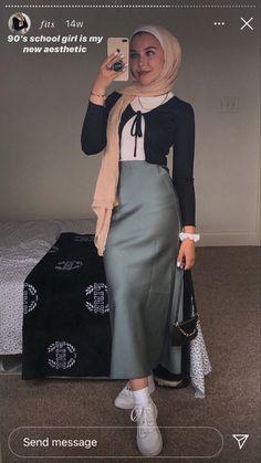 Hijab Fashion Summer, Modest Fashion Hijab, Modern Hijab Fashion, Muslim Women Fashion, Street Hijab Fashion, Modesty Fashion, Hijab Fashion Inspiration, Modest Outfits Muslim, Trendy Outfits