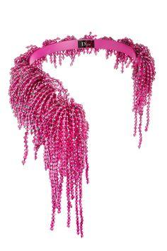 Dior necklace, $4,500, by special order, 800-929-DIOR.- HarpersBAZAAR.com (=)