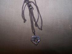 Beautiful STAUER Heart pendant pretty CZ marked by vintagebyrudi, $14.99