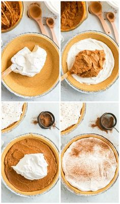 No Bake Pumpkin Pie Recipe - Spaceships and Laser Beams No Bake Pumpkin Cheesecake, No Bake Pumpkin Pie, Easy Pumpkin Pie, Pumpkin Pie Recipes, Baked Pumpkin, Pumpkin Dessert, Healthy Pumpkin, Easy Pie Recipes, Tart Recipes