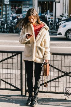 sherpa coat were all the rage this winter