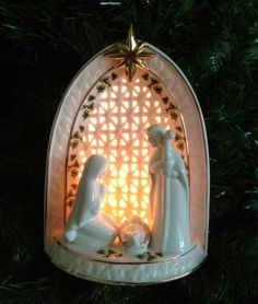 """The Irish Light up Nativity is designed in astonishing detail and beautifully displays the true meaning of Christmas. Porcelain 7"""" x 5""""."""