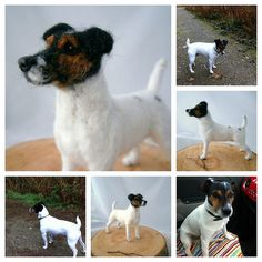 Jack russell needle felted by adore62,