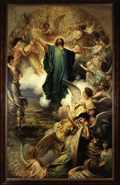 The Ascension, alongside the Resurrection, the Harrowing of Hell, and most scenes of the Passion, is a frequent subject in Christian art. By the century the iconography of the Ascension had alr… Religious Paintings, Religious Art, L Ascension, Pictures Of Jesus Christ, Jesus Christus, Baroque Art, Biblical Art, Jesus Art, Catholic Art