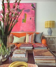 Colorful Living Space-Anna Spiro Rough Luxe Lifestyle