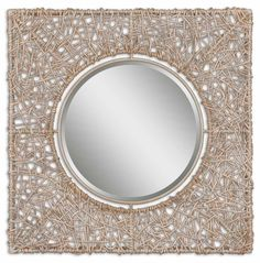 Mirrors Knotted Rattan Natural Mirror by Uttermost