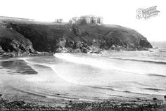 Gunwalloe, The Bay And Poldhu Hotel 1899. Poldark is back! Watching the wonderful new BBC series has prompted us to revisit Francis Frith's love affair with Poldark's #Cornwall. #Poldark #francisfrith