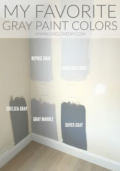 The BEST gray paint colors revealed! The BEST gray paint colors revealed! Interior Paint Colors, Paint Colors For Home, House Colors, Small Bedroom Paint Colors, Hallway Paint Colors, Popular Paint Colors, Farmhouse Paint Colors, Paint Colors For Living Room, Gray Paint For Bedroom