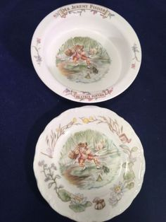 Beatrix Potter Bone China Collectible Plate And Bowl Jeremy Fisher Royal Albert #RoyalAlbert : beatrix potter dinnerware - pezcame.com