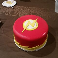 The flash cake my gf made for my bday today :) - Imgur