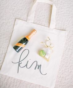 Handmade custom bridesmaid's tote bag by Parris Chic Boutique- gifts for your bridesmaids- gifts for her- customized and personalized gifts- custom ordering available at Parrischic.com- photo by @jgalfo