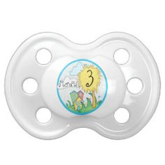 3 Months Dr Seuss Inspired Milestone Pacifier