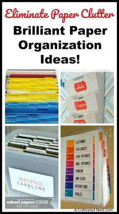 How To Organize Your Paperwork! Overwhelmed by all the mail and documents you have to keep organized every day? De-clutter and de-stress your life with one of these 10 handy ways to organize your personal papers! Diy Organisation, Do It Yourself Organization, Organizing Paperwork, Home Office Organization, Paper Organization, Organizing Tips, Organizing Paper Clutter, Organizing Ideas For Office, Organizing Documents