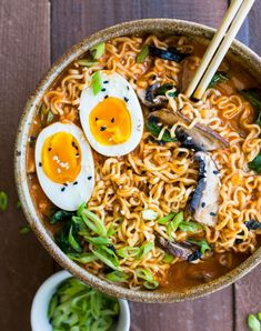 This simple and nourishing Spicy Red Miso Ramen recipe is a delicious and slurp-worthy dinner. This simple and nourishing Spicy Red Miso Ramen recipe is a delicious and slurp-worthy dinner. Ramen Recipes, Noodle Recipes, Asian Recipes, Cooking Recipes, Healthy Recipes, Ethnic Recipes, Healthy Breakfasts, Healthy Snacks, Spicy Ramen Noodles