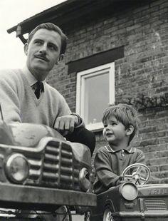 Graham Hill with his son, Damon.......Both F1 World Champions.