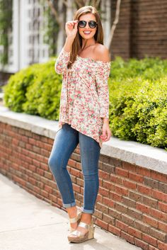 """Flattering Fun Top, Rose"""