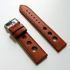LUX Natural Tan Leather Grand Prix Rally Style Watch Strap Band   luxwatchstraps