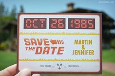 save-the-dates - back to the future....Patrick would die for this!