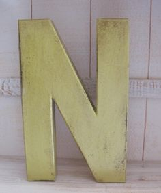 Paper Mache  Shabby Chic Eight Inch Letter  A by GTcottagecrafts, $4.99