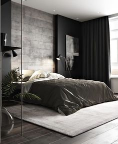 trendy home studio apartment design Chic Apartment Decor, Studio Apartment Design, Studio Design, Romantic Bedroom Decor, Trendy Bedroom, Bedroom Small, Gray Bedroom, Small Rooms, Modern Bedroom Design