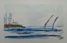 Oeuvre unique 33 au format carte postale : Peintures par pat29730