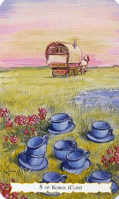 Resultado de imagem para 8 of cups tarot