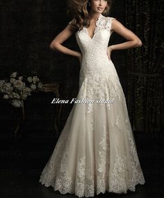 Custom Wedding dress Vintage  organza by Elenafashionstudio, $379.00
