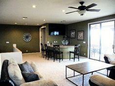 Man Cave/Bar Loft has balcony access, wet bar with frig and 65 inch SmarTV. #988045  #homeaway  #desertsanctuary  #scottsdale  #arizona