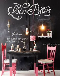 blackboard chalk love