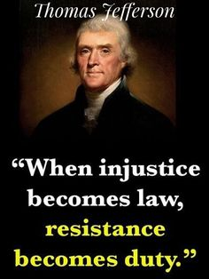 "Listen to one of our founding fathers and JOIN The Resistance! PLEASE VISIT: ~ www.IndivisibleGuide.com ~ www.TheDJTR.com ~ www.CADOF.org ~ AND Click on ""Read it"" for info on the App."