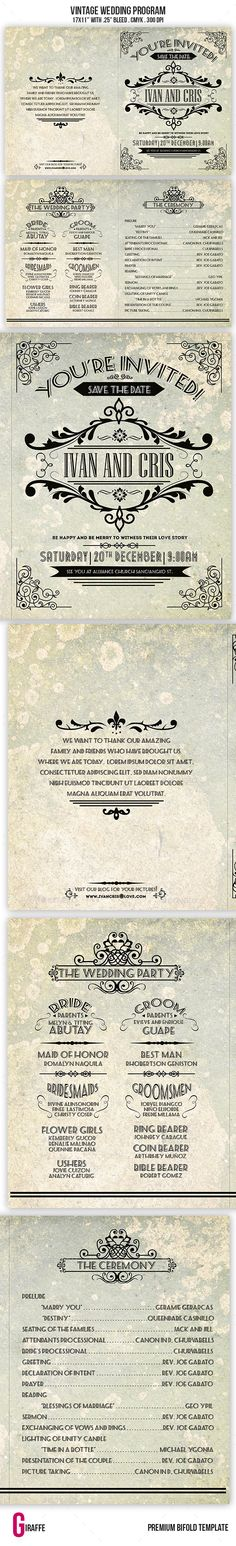 A4 Landscape Wedding Brochure Wedding brochure, As and Brochures - wedding brochure template