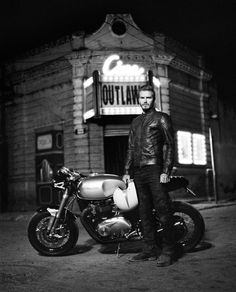 "David Beckham Rides a Motorcycle in Belstaff's New ""Outlaws"" Short Film"