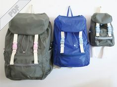 Sewing tutorial with pattern for backpack No. by DIYSewingAcademy