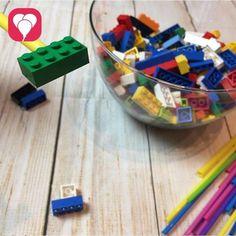 Lego Spiele Legostein Wettlauf Strohhalm