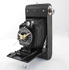 Camera Clock Soho Myna Vintage Geekery Upcycled