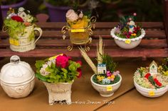 Cute flower pieces for sale in Kyoto on the Eve of Gion Matsuri (祇園祭り). #GionMaturi, #Kyoto, #flowers