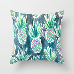 Buy Wild Pineapples Throw Pillow by Barbarian / Barbra Ignatiev. Worldwide shipping available at Society6.com. Just one of millions of high quality products available.