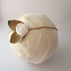 Cream Silk & jute tie back  flower newborn tieback baby headband newborn photography prop head pice rustic baby head wrap on Etsy, $9.51