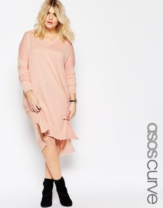 Jumper Dress in Fine Knit with Silk Blend - I feel like this colour would pop on my skin