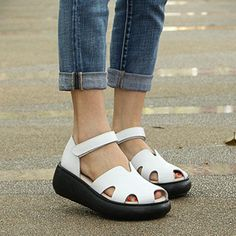 Who doesn't absolutely adore attractive wedges?, look at our amazing selection of zip-back and belt wedges for each situation! Wedges Outfit, Shoes Heels Wedges, Wedge Shoes, Sandal Wedges, Women's Shoes, Dance Shoes, White Wedge Heels, White Wedges, Brown Wedges
