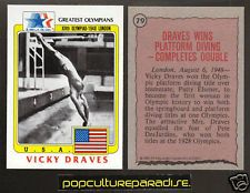 VICKY DRAVES Diving 1983 Topps Greatest Olympians CARD