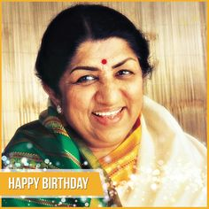 Wishing the Nightingale of India Lataji a very Happy Birthday as she turns 87 today...  Her soulful voice and mesmerizing persona has been part of Bollywood for over 70 years now and we salute her simplicity and liveliness...  #LataMangeshkar #Lataji #HappyBirthdayLataMangeshkar