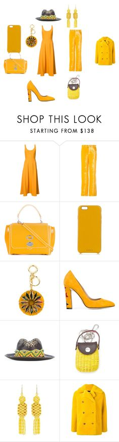 """Yellow fashion style"" by jamuna-kaalla ❤ liked on Polyvore featuring TIBI, Arthur Arbesser, Ermanno Scervino, Chaos, Burberry, Paula Cademartori, Ibo-Maraca, Serpui, Etro and Roseanna"