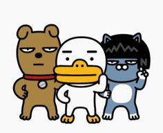 Kakao Friends, Images Wallpaper, Racoon, Emoticon, Book Design, Illustration, Cute Animals, Cartoons, Animation