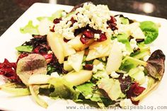 Clean Eating Recipe – Pear Champagne Salad   Clean Eating Recipes - Clean Eating Diet Plan Made Easy