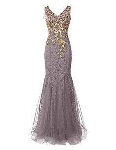 Dresstells® Long Lace Mermaid Prom Dress with Appliques Wedding Dress Evening Party Wear Champagne Size 10 Mermaid Prom Dresses Lace, Prom Dresses Long Pink, Lace Mermaid, Dress Lace, Stunning Dresses, Pretty Dresses, Applique Wedding Dress, Moda Fashion, Dream Dress