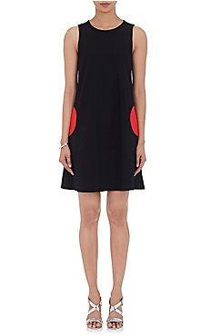 Circular-Pocket Shift Dress