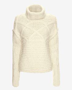 Apiece Apart Fisherman Stitch Sweater, $398; intermixonline.com   - ELLE.com
