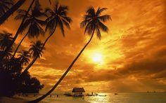 Sunset at Pigeon Point Tobago