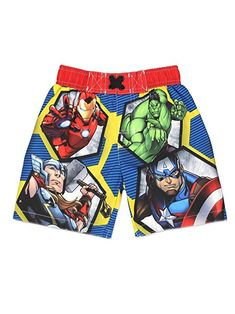 a87af55c9c Avengers Superhero Boys Swim Trunks Swimwear (Toddler/Little Kid/Big Kid)